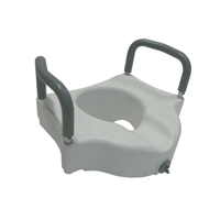 Steel Drop Arm Bedside Commode with Padded Seat & Arms | Drive Medical
